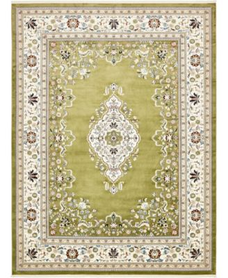Zara Zar1 Green 10' x 13' Area Rug