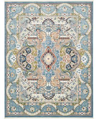 Zara Zar2 Blue 10' x 13' Area Rug
