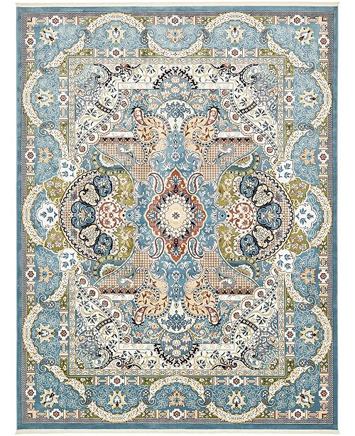 Bridgeport Home Zara Zar2 Blue 10' x 13' Area Rug
