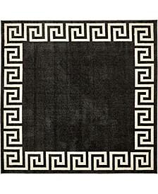 Anzu Anz2 Charcoal 8' x 8' Square Area Rug