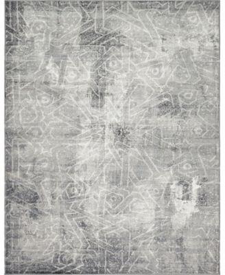 Basha Bas6 Dark Gray 9' x 12' Area Rug