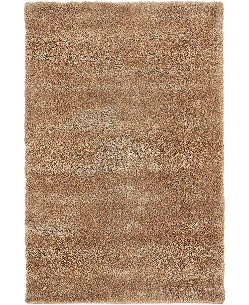 "Bridgeport Home Uno Uno1 Light Brown 3' 3"" x 5' 3"" Area Rug"