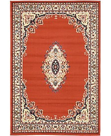 Bridgeport Home Birsu Bir1 Terracotta 4' x 6' Area Rug