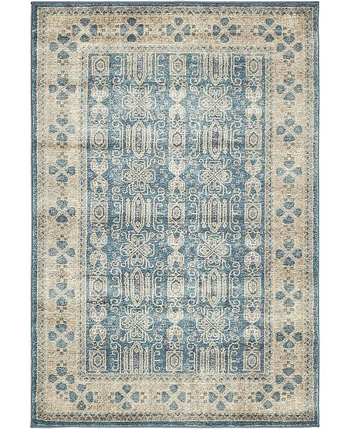 Bridgeport Home Bellmere Bel1 Light Blue 4' x 6' Area Rug