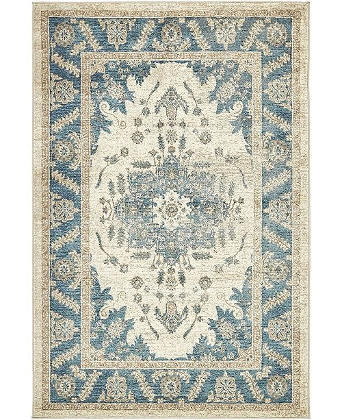 Bridgeport Home Bellmere Bel2 Ivory 4' x 6' Area Rug