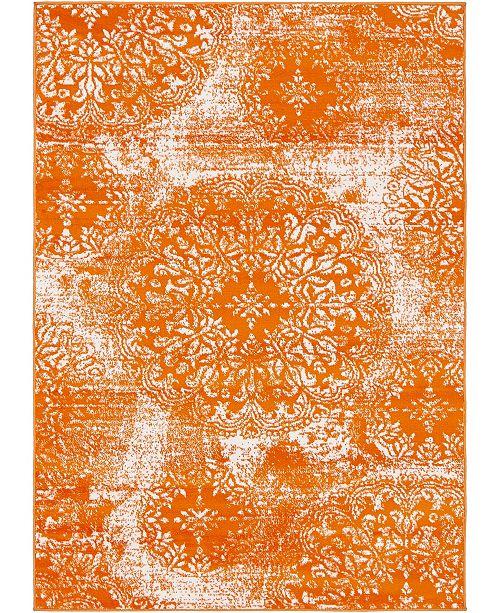 Bridgeport Home Basha Bas7 Orange 4' x 6' Area Rug