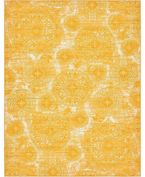 Bridgeport Home Basha Bas7 Yellow 9' x 12' Area Rug