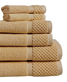 Diplomat 6-Piece 100% Cotton Bath Towel Set