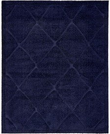 Filigree Shag Fil1 Navy Blue 8' x 10' Area Rug