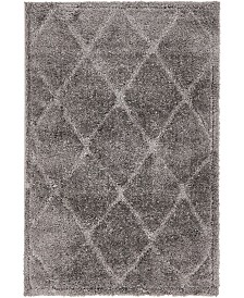 Bridgeport Home Filigree Shag Fil1 Dark Gray 4' x 6' Area Rug