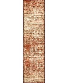 "Jasia Jas08 Terracotta 2' 6"" x 10' Runner Area Rug"