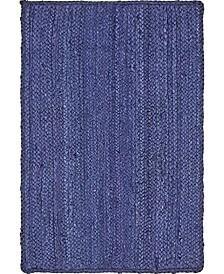 Braided Jute B Bjb5 Navy Blue 2' x 3' Area Rug