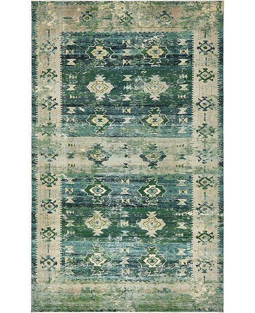 "Bridgeport Home Newhedge Nhg3 Green 10' 6"" x 16' 5"" Area Rug"