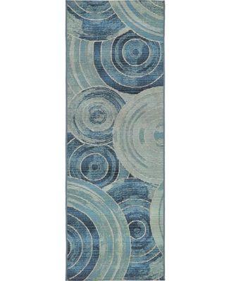 Pashio Pas1 Light Blue 2' x 6' Runner Area Rug