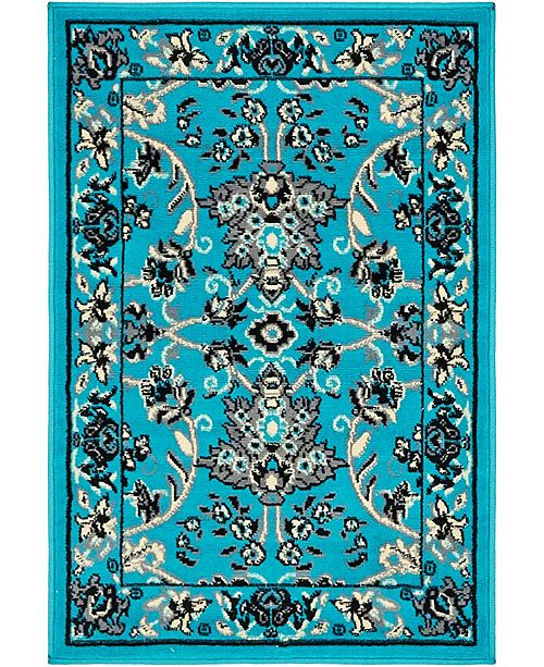 "Bridgeport Home Arnav Arn1 Turquoise 2' 2"" x 3' Area Rug"