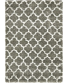 Bridgeport Home Fazil Shag Faz4 Gray 4' x 6' Area Rug