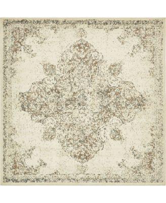 Tabert Tab7 Ivory 8' x 8' Square Area Rug