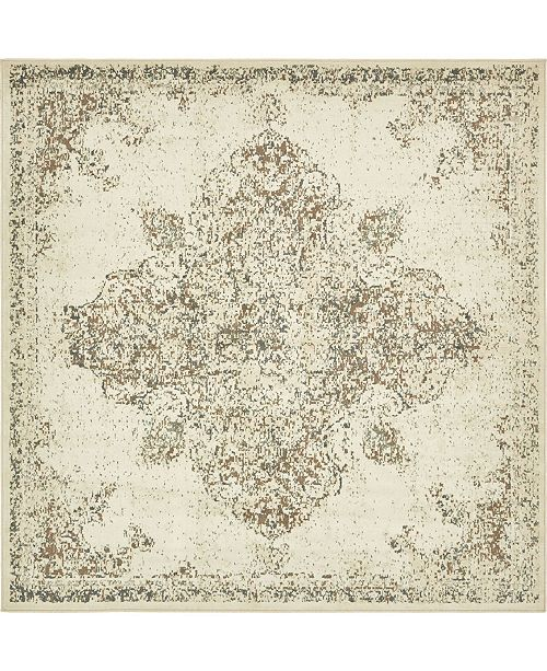 Bridgeport Home Tabert Tab7 Ivory 8' x 8' Square Area Rug