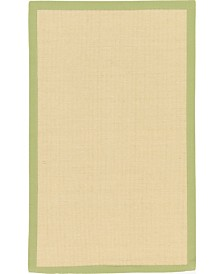 Bridgeport Home Bound Sisal Bds1 Cream/Green 3' x 5' Area Rug
