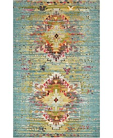 "Bridgeport Home Brio Bri9 Turquoise 10' 6"" x 16' 5"" Area Rug"