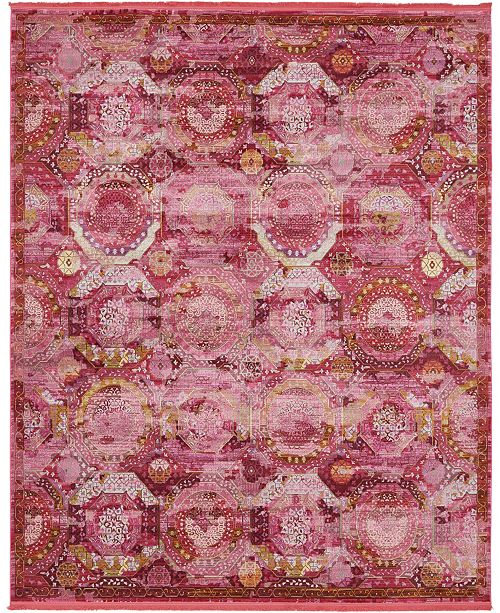 "Bridgeport Home Kenna Ken4 Pink 8' 4"" x 10' Area Rug"