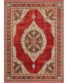 Bridgeport Home Kenna Ken1 Red 10' x 13' Area Rug
