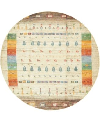 "Tempe Tmp9 Ivory 8' 2"" x 8' 2"" Round Area Rug"