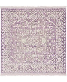 Norston Nor1 Purple 4' x 4' Square Area Rug