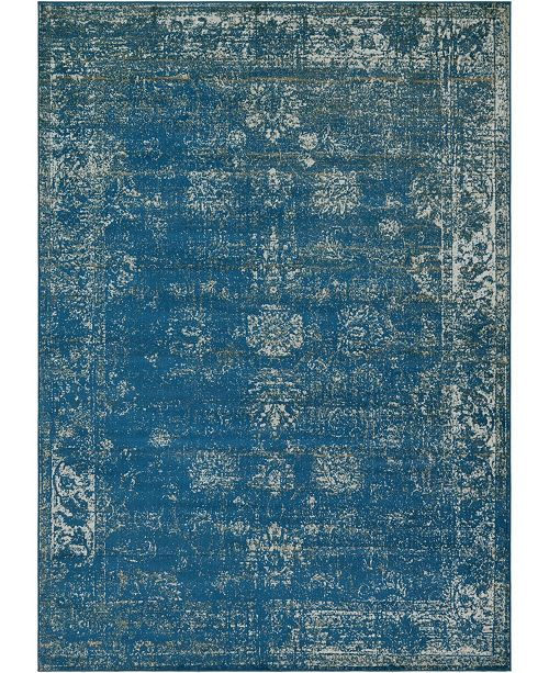 Bridgeport Home Basha Bas1 Blue 7' x 10' Area Rug