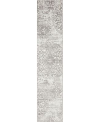 Basha Bas7 Light Gray 6' x 9' Area Rug