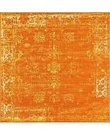 Basha Bas1 Orange 8' x 8' Square Area Rug
