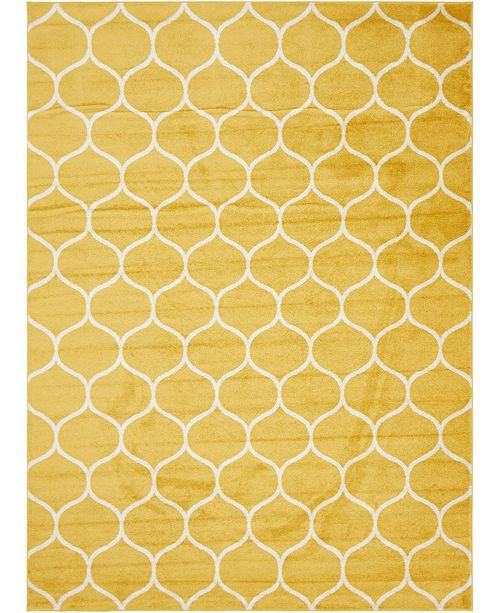 Bridgeport Home Plexity Plx2 Yellow 9' x 12' Area Rug