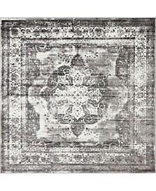 Basha Bas2 Gray 8' x 8' Square Area Rug