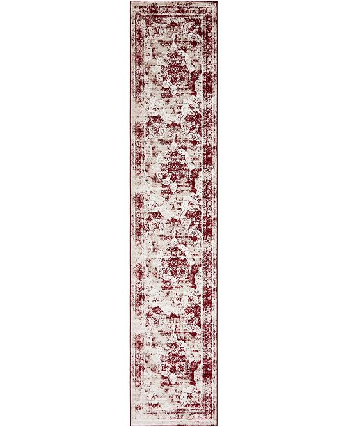 "Bridgeport Home Basha Bas2 Burgundy 3' 3"" x 16' 5"" Runner Area Rug"