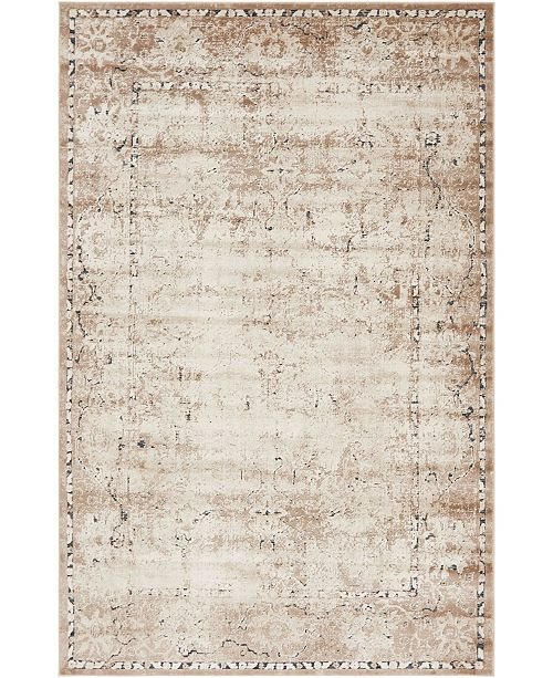 Bridgeport Home Odette Ode4 Beige 6' x 9' Area Rug