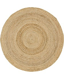 Braided Jute C Bjc5 Natural 6' x 6' Round Area Rug