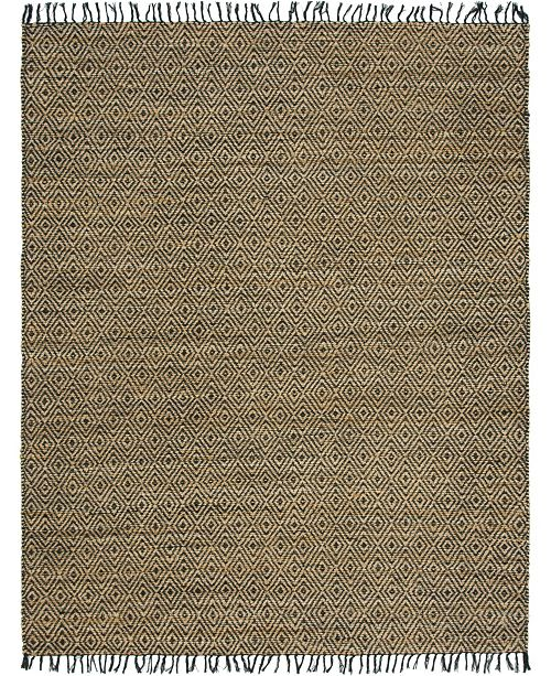 Bridgeport Home Braided Tones Brt3 Natural/Black 8' x 10' Area Rug