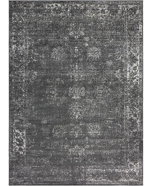 Bridgeport Home Basha Bas1 Dark Gray 8' x 11' Area Rug