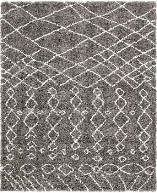 Bridgeport Home Fazil Shag Faz2 Gray Area Rug Collection