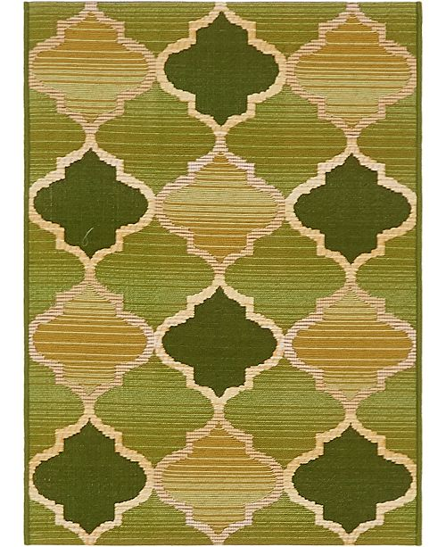 "Bridgeport Home Pashio Pas1 Green 2' 2"" x 3' Area Rug"