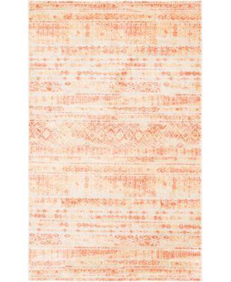 Haven Hav2 Orange 5' x 8' Area Rug