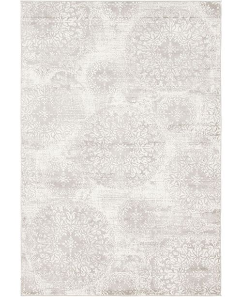 Bridgeport Home Basha Bas7 Light Gray 6' x 9' Area Rug