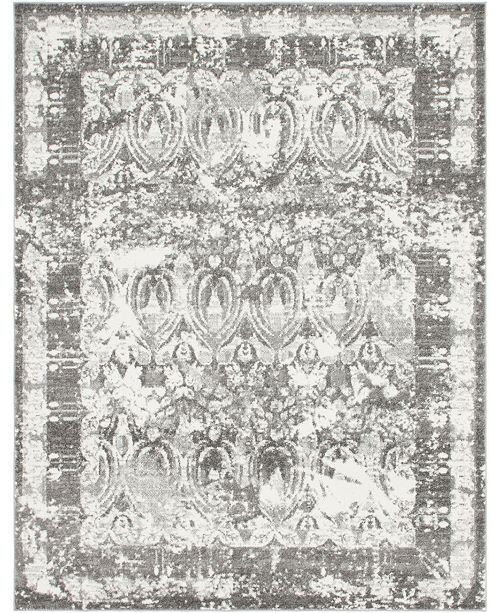 Bridgeport Home Mishti Mis3 Gray 8' x 10' Area Rug