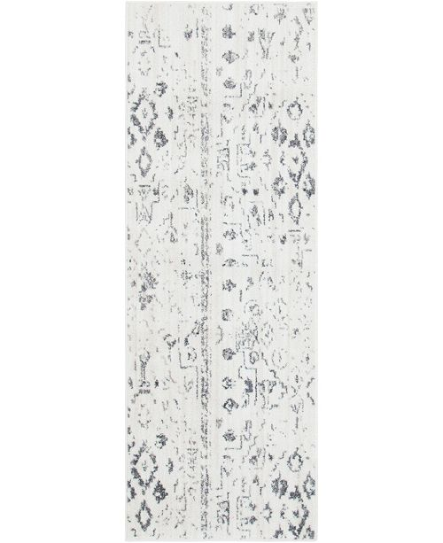"Bridgeport Home Nira Nir2 Ivory/Gray 2' 2"" x 6' Runner Area Rug"