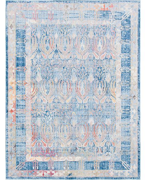 Bridgeport Home Zilla Zil2 Blue 9' x 12' Area Rug
