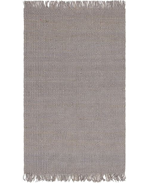 Bridgeport Home Stout Jute Stj1 Gray 5' x 8' Area Rug