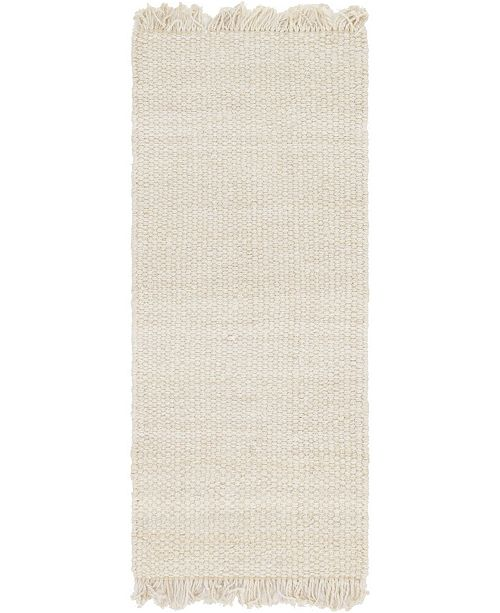 "Bridgeport Home Stout Jute Stj1 Ivory 2' 6"" x 6' Runner Area Rug"
