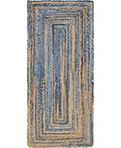 Blue Braided Runner Rugs Macy S