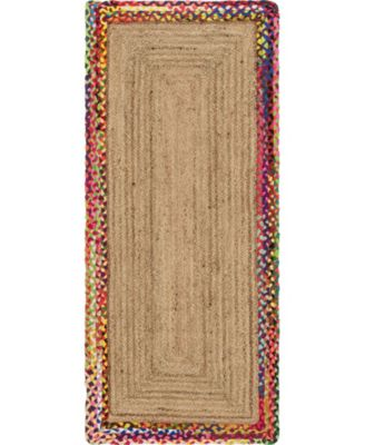 Chindi Border Chb2 Natural 8' x 8' Round Area Rug