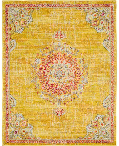 Bridgeport Home Lorem Lor1 Gold 8' x 10' Area Rug